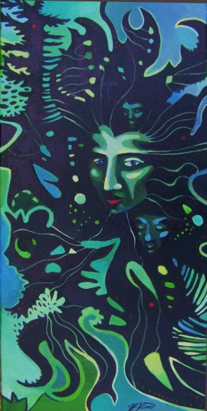 "2012 Varya Vinogradova, acrylic on canvas, 10""x20"""
