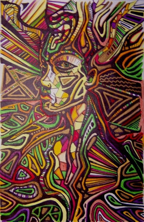 Freestyle sharpie and Faber-Castell on paper. No pre-drawing.