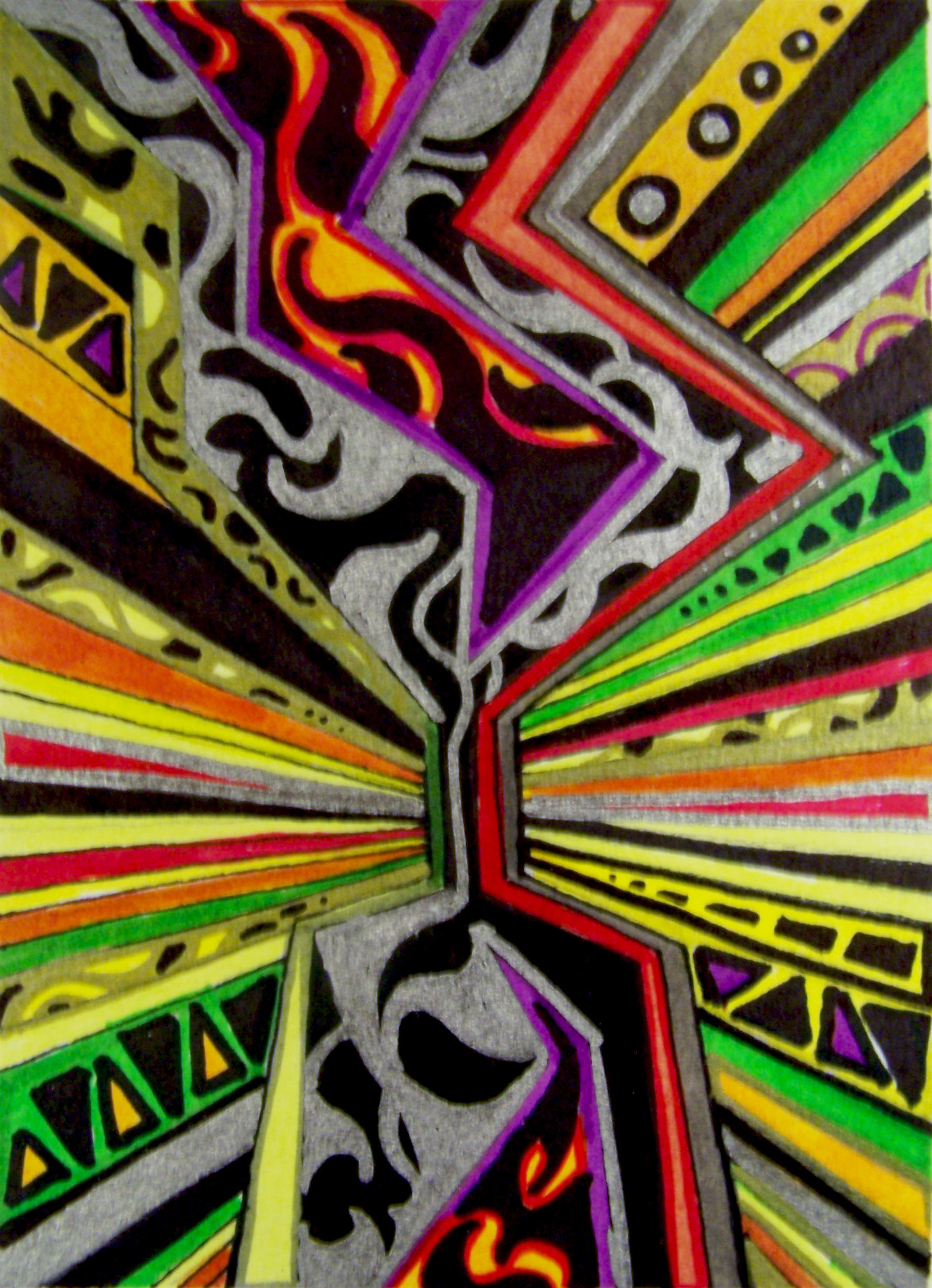 sharpie and ink on paper 2012